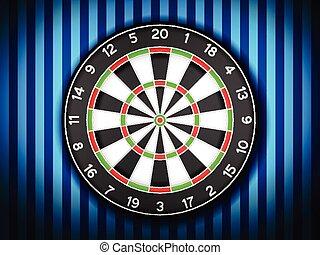 dartboard on wall