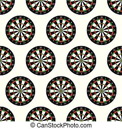 Dartboard seamless pattern