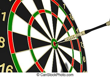 Dartboard - to strive for a goal