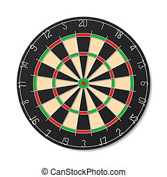 Dartboard vector illustration