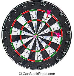 Dartboard with 3 dart in it
