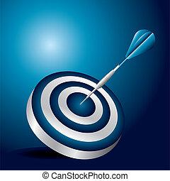 dartboard with dart