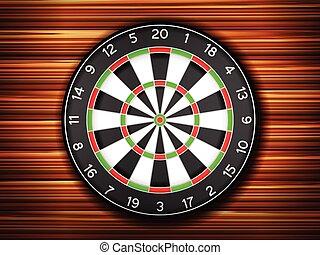 dartboard wooden background