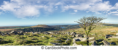 Looking towards Burrator from the slopes of Down Tor on Dartmoor