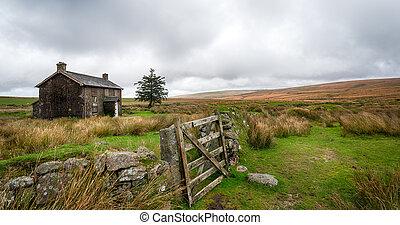 Dartmoor National Park - A derelict and abandoned farmhouse...