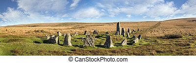 Dartmoor Stone Circle at Down Tor - Stone Circle and Stone...