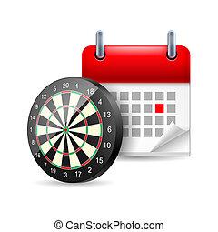 Darts and calendar