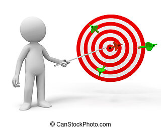 Darts and target - A people is explaining the target and...