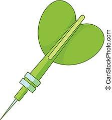 Darts arrow icon, cartoon style