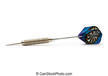 Darts arrow isolated on white background