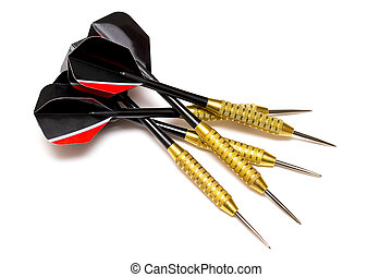 Darts arrows isolated on white background