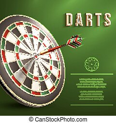 Darts board background