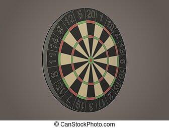Darts board illustration