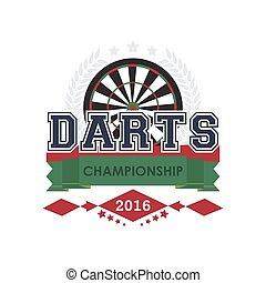 Darts championship emblem vector.