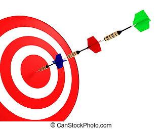darts hit the target