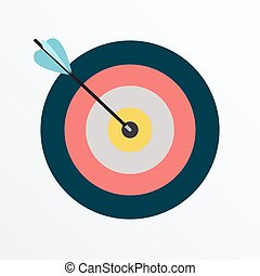 Darts hitting a colorful target