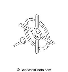 Darts icon, isometric 3d style