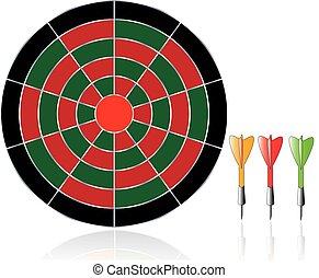 darts illustration isolated on white background