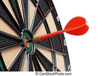 Darts - Isolated dartboard and dart