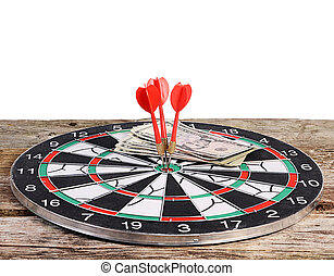 Darts isolated on white background
