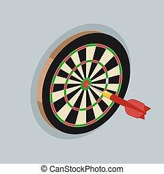 Darts isometric vector illustration