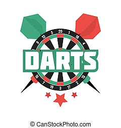 Darts label. Badge Logo. Darts sporting symbols. Darts, ...