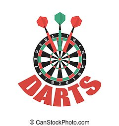 Darts label. Badge Logo. Darts sporting symbols. Darts,...