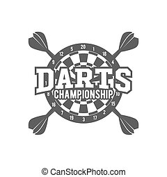 Darts label,  badge, vector logo