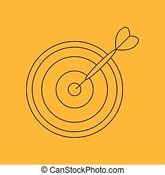 Darts line icon