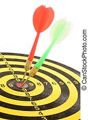darts on a dartboard
