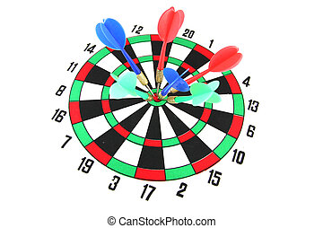 Darts on Target of isolated.