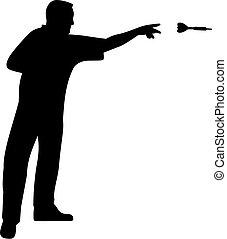 Darts Player Throwing