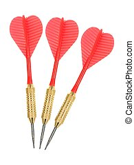 Darts - Playing darts isolated against a white background
