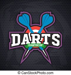 Darts porting logo and leisure design.