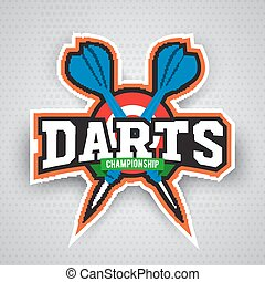Darts porting logo and leisure design. - Vintage darts...
