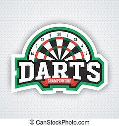 Darts porting logo and leisure design.