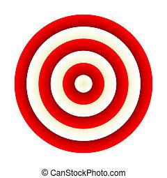 Darts. Red target