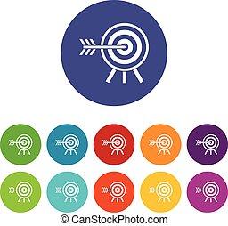 Darts set icons