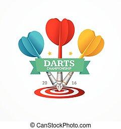 Darts Sign. Vector