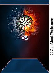 Darts sports tournament modern poster template.