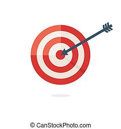Darts target aim