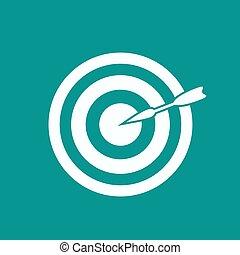 Darts target aim icon