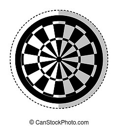 darts target isolated icon