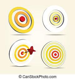 Darts targets set