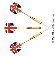 Darts With Union Jack Flag