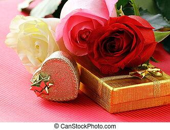 dary, świeży, róże
