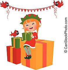 dary, elf, boże narodzenie