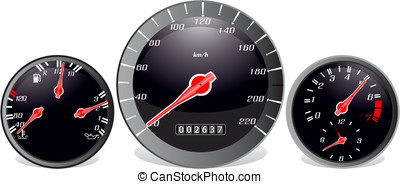 Dasboard.jpg - Car dashboard in red and black colours