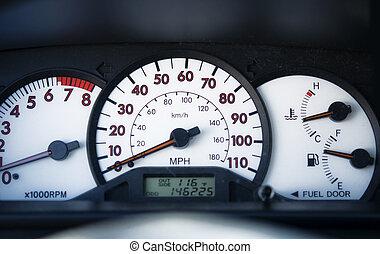 Dash board of modern car