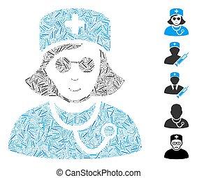 Dash Collage Blind Nurse Icon - Hatch Mosaic based on blind ...